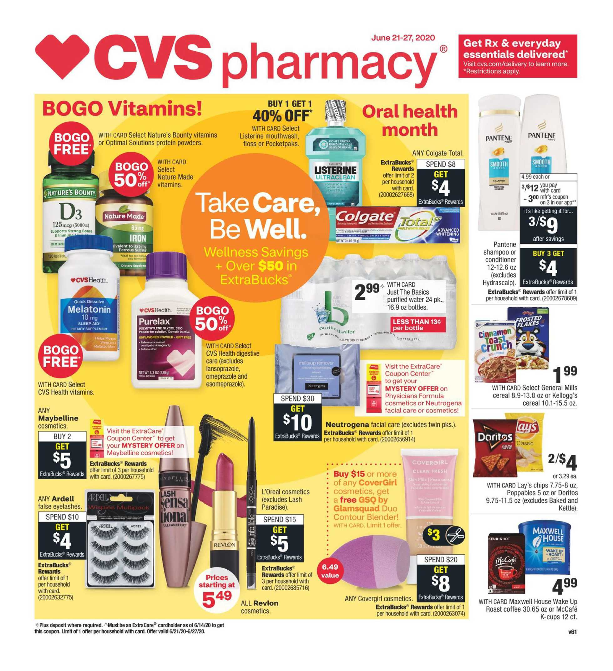 CVS - deals are valid from 06/21/20 to 06/27/20 - page 1.