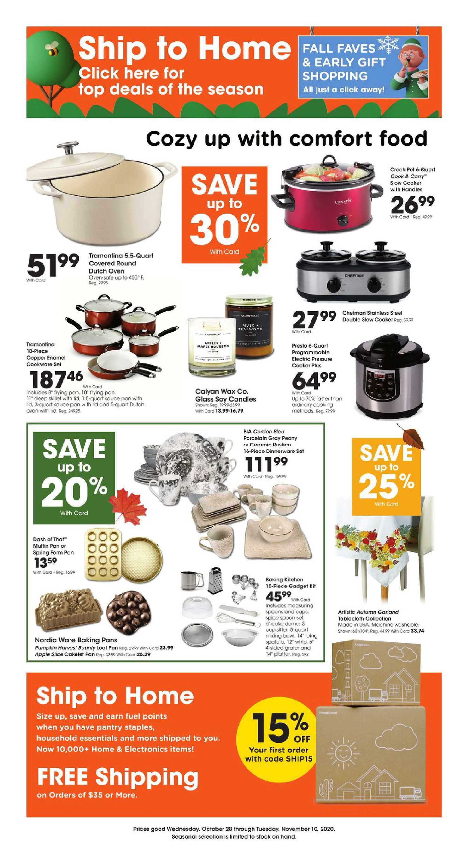Kroger - deals are valid from 10/28/20 to 11/10/20 - page 1.