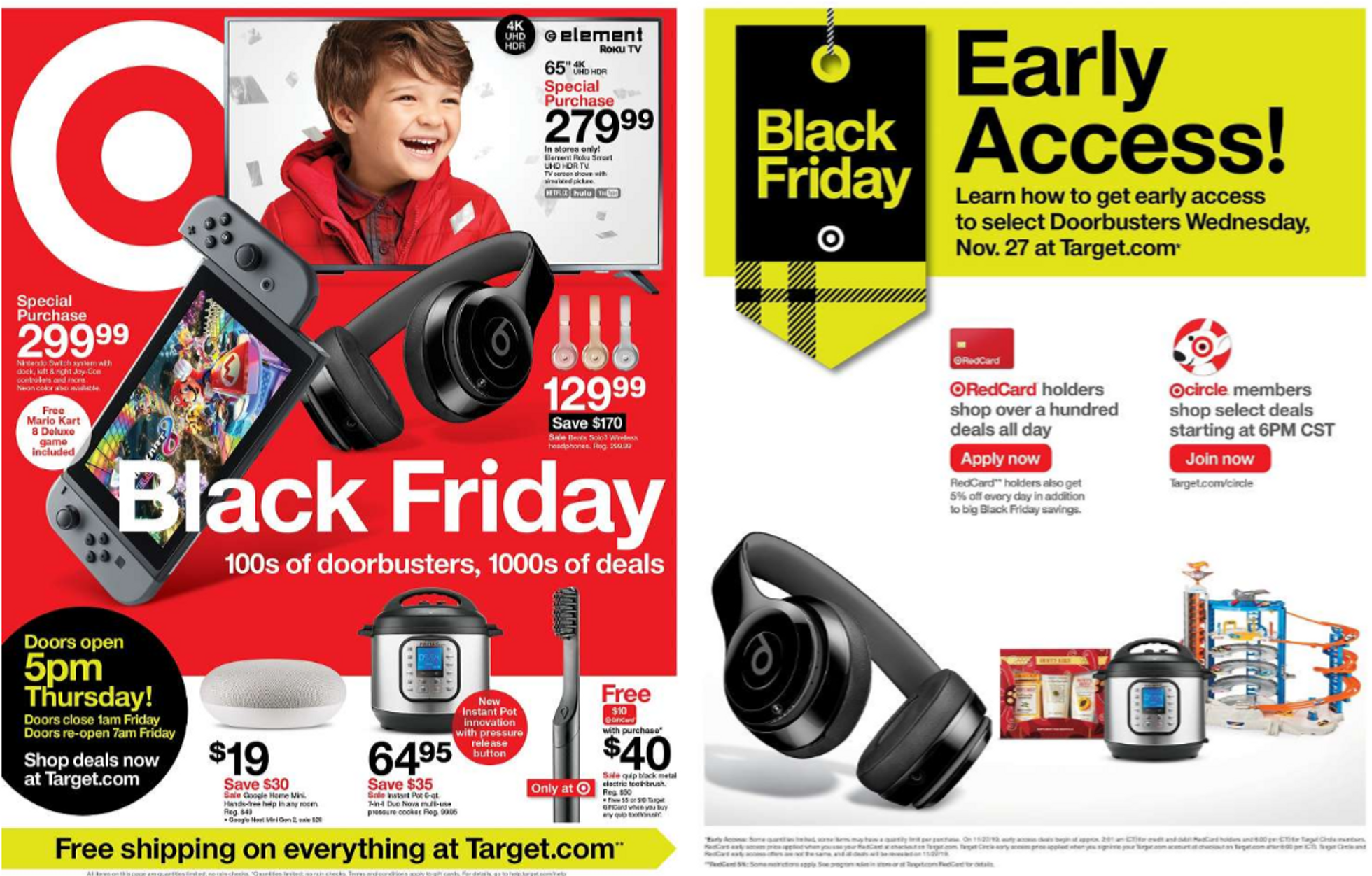Target - promo starting from 11/28/19 to 11/30/19 - page 1. The promotion includes mario, nova, black